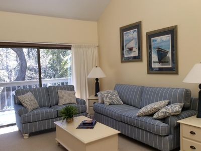 Photo for SECLUDED ONE BEDROOM CONDO 5 MINUTE WALK TO HERITAGE OPEN GOLF TOURNAMENT