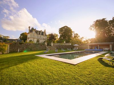 Photo for Confirmed Instant Book: Chateau de la Paix with heated pool near D-Day!