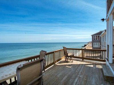 Photo for BEACH WATERFRONT Sleeps 12 OCEAN BLUFF House Rental
