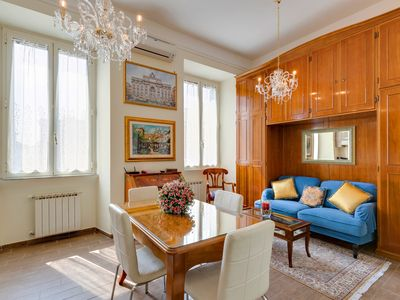 Photo for Dimora Luminosa with 2 bedrooms 2 bathrooms free wifi near St. Peter's and Piazza Spagna