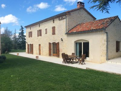 Photo for Beautiful white stone house in the South West of France in Cordes.