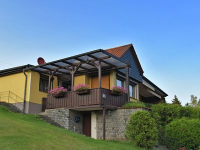 Photo for Detached holiday home in the Harz with garden, covered terrace and lake view