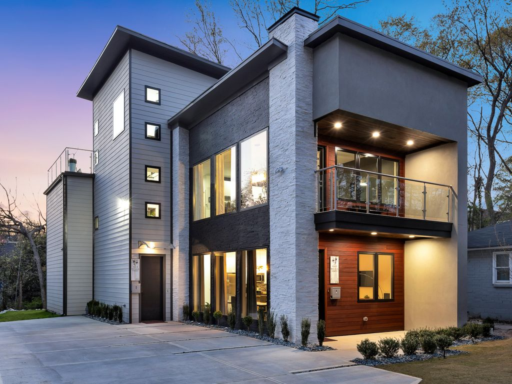 New Modern Home Near Atlantic Station With Balcony And Rooftop Deck Home Park