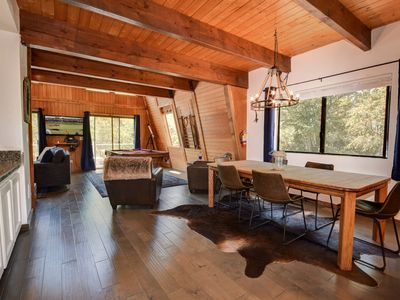 Photo for Northwoods Cabin: Close to Bear Mountain! WiFi! Wood Burning Fireplace! Telescope! Pool Table!