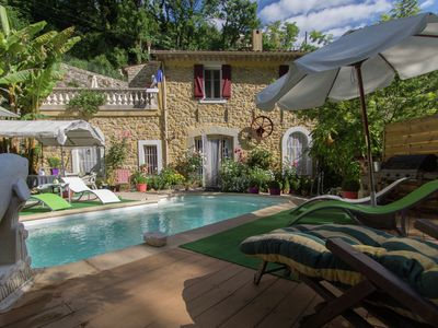 Photo for Romantic converted watermill in a beautiful mountain area near Grasse
