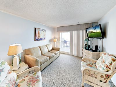 Photo for Oceanfront 2BR w/ Pool & Private 4th-Floor Balcony - Steps to Surf & Sand