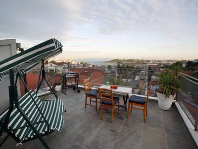 Photo for Magnificent Private Terrace w/Sea View in Taksim