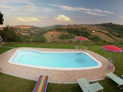Photo for Spacious Farmhouse in Montecarotto with Private Terrace