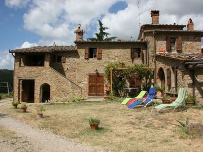 Part of old farmhouse with private pool in stone. Good Value for money.
