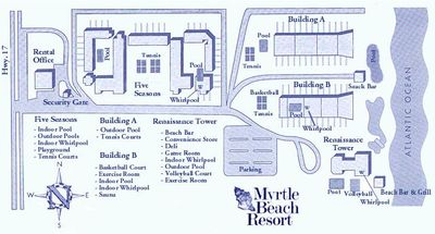 MB Resort Map We Are All The Way Up Right Next To Beach In