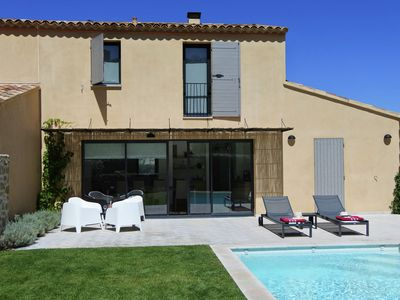 Photo for Magnificent villa with heated private pool in grounds walking distance from village