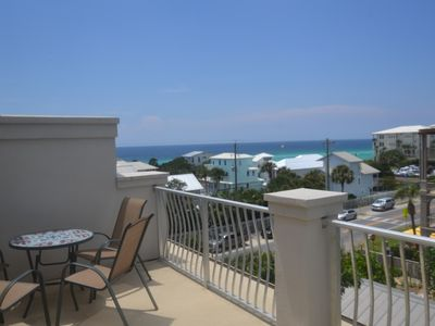 Photo for Walk to it all. 4BR/4BA townhome with Gulf Views, sleeps 8