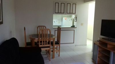 Photo for Apartment type flat, two bedrooms, Gonzaga, Santos -SP, 3 blocks from the beach