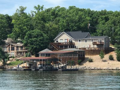 Photo for Fantastic Home on Point in Cove with Quiet Water with Huge Private Dock