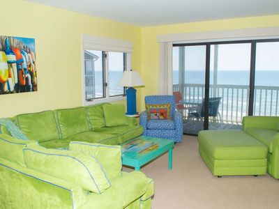 Photo for Tastefully Decorated 3rd Floor Oceanfront Condo! Great Views!