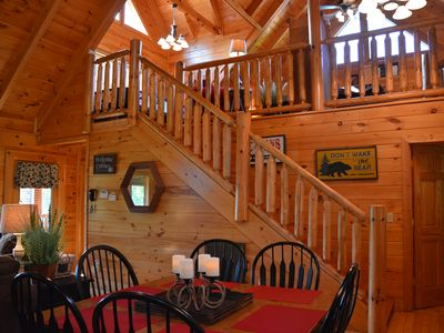 Photo for BEAUTIFUL 2/2 CABIN WITH LOFT GAMEROOM