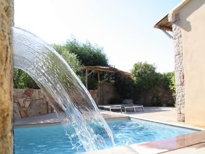 Photo for Villa 6/7 pers luxury 2mn Santa Giulia and Palombaggia private heated pool