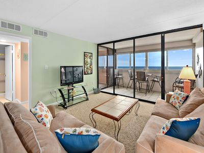 Photo for Beautiful Ocean Front 2 Bedroom Condo with Outdoor Pool!