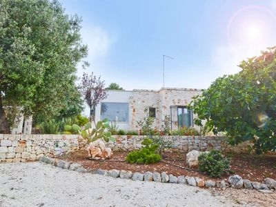Photo for Lamia in stone villa for 2 | 4 guests with Mediterranean garden and olive grove