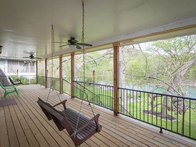 Photo for Hondo's River Haus- 4 bedroom/4 bath Guadalupe Riverfront - come and enjoy!