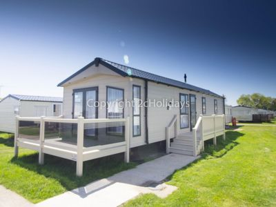 Photo for Platinum caravan for hire at Broadland sands holiday park with decking ref 20214