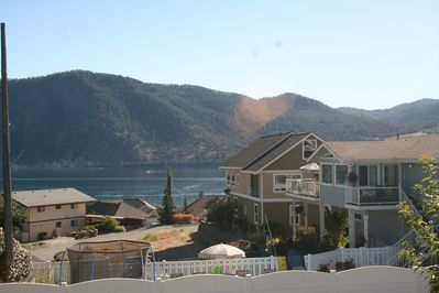 This is your view on the deck looking out towards Lake Chelan and the S. Shore