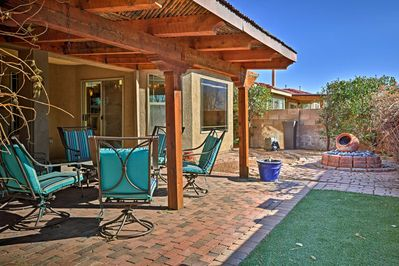 Relax under the hot desert sun at this Bernalillo vacation rental home!