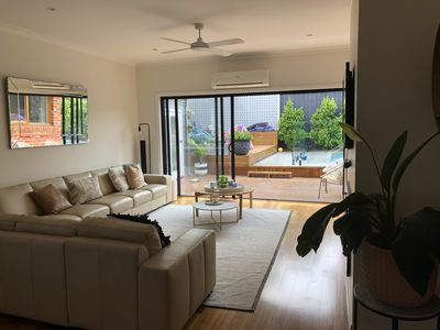Photo for Modern Family home with pool close to beach and cafes and large shopping centre