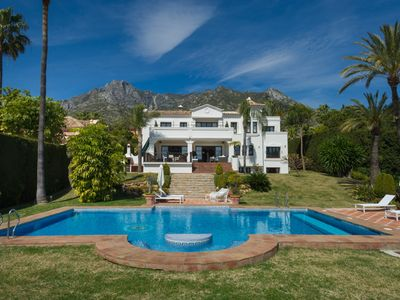 Photo for Luxury Villa with Private Tennis Court & Large Heated Pool