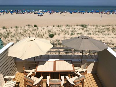Photo for Oceanfront On Bethany Beach Boardwalk - Available Labor Day Wkd at reduced rate!