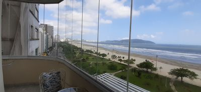 Photo for Spectacular panoramic view of all the Santos coastline, seafront, high floor.