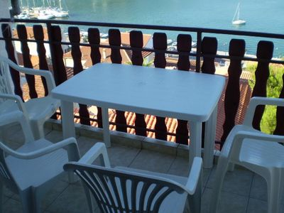 Photo for Studio flat with terrace and sea view Tisno, Murter (AS-16947-a)
