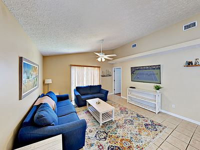 Living Room - Welcome to Panama City Beach! This home is professionally managed by TurnKey Vacation Rentals.