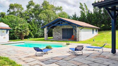 Photo for Beautiful villa, St-JdL + sea view + parking + wifi + pool for a dream holiday