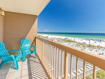 Photo for Pelican Beach Resort 308-1BR+Bunks☀Sep 5 to 7 $507 Total!☀Gulf Front-3 Pools!