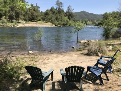 Photo for Private Beach, Views--Walk to Rafting, Pub, River Store