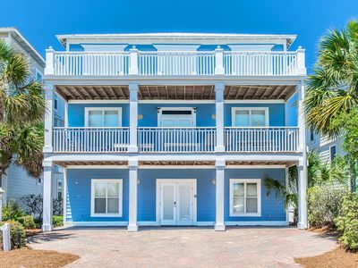 Photo for Bluewhale 6BR-25 Steps to Beach.Huge porches to watch the surf.  Remodeled 1&2FL