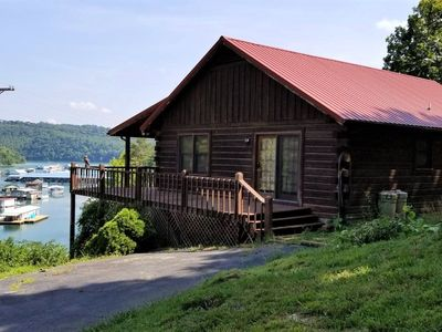 Photo for Beautiful Lakefront Log Cabin in the Mountains