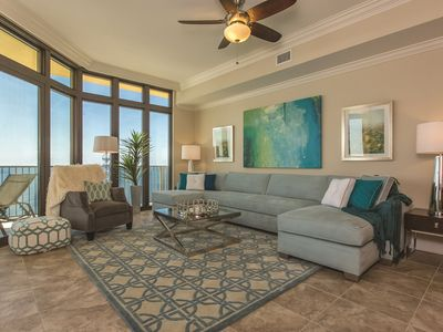 Photo for Brand New Construction in Orange Beach!  Very Large Luxury Unit on the 22nd Floor!  Floor to Ceiling Windows in Every Room Allow Panoramic Views of the Gulf!  Top of the Line Furnishings and Finishes Throughout!  Complimentary Wi-Fi!  The Complex it's self Boasts a New Pool, Gym, and PLENTY More!