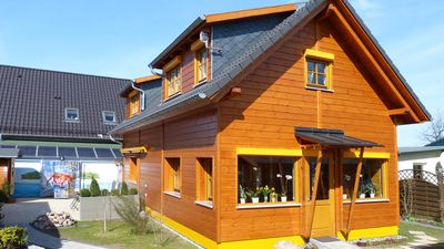 Photo for Rügen Wooden House - Luxury 5 star Villa with Boddenblick u. Barrel-sauna