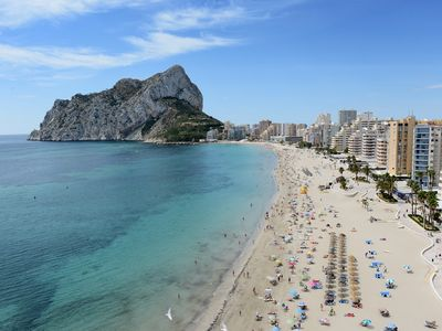 Photo for Bright and beautiful apartment La Luz III with pool and A/C in Calpe
