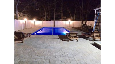 Photo for Resort Style Backyard/ Chalet all Newly Renovated/Heated Private pool
