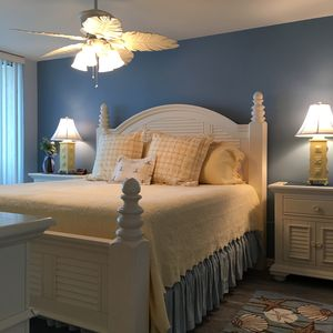 Master Bedroom on Ocean side of condo-King bed
