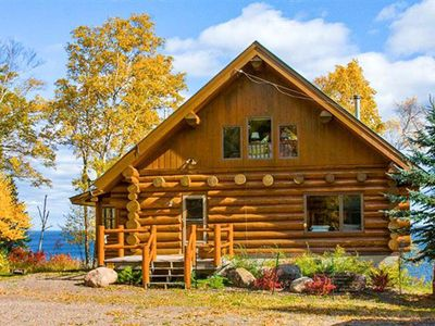 Photo for Luxurious Log Cabin on Lake Superior