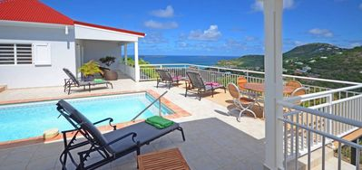 Photo for Villa Bonjour  -  Ocean View - Located in  Beautiful Saint Jean with Private Pool