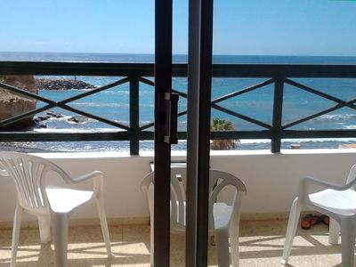 Photo for The house on the beach 1. Rest and relaxation facing the sea. Wifi