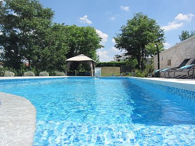 Photo for Modern and charming villa enriched with Istrian stone, large pool