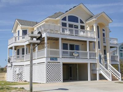 Photo for Oceanside: ONLY 500 feet to beach with views of ocean and sound!  Pool, HotTub, Pets