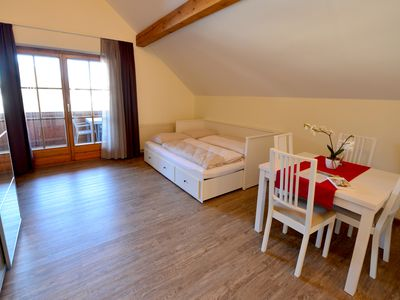 Photo for Apartment with garden, balcony & private beach Sonne4b