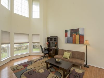 Photo for Fully Furnished Exec HM: 4 BR 3.5 BA,2 CAR GA, 75/75 WIFI/CABLE, NEAR N. DALLAS